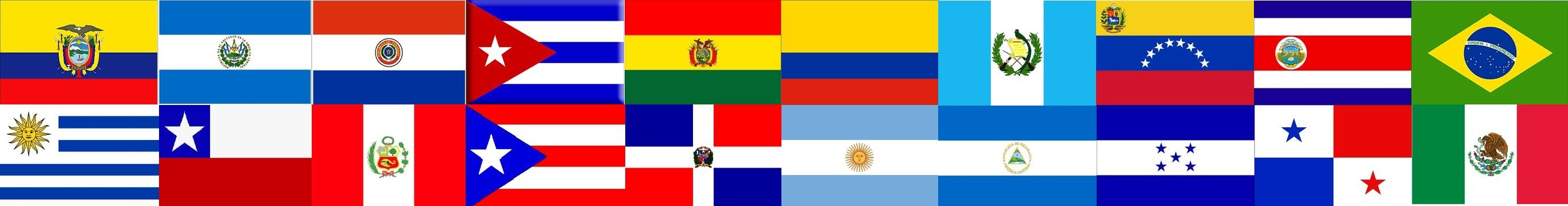 Image result for latin american flag banner